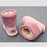 UGG Boots Women Boots Winter Warm Fashion Thread curl boots Pink