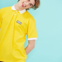 [LUV IS TRUE] RE GAME PIQUE SHIRT(YELLOW)