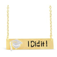 """""""I Did It!"""" Necklace - Graduation Gift"""