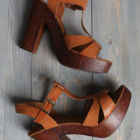 Top Moda Wooden Wedge