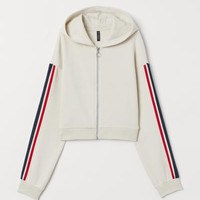 Short Hooded Jacket - Light beige - | H&M US