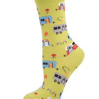 Womens Camptown Crew Length Socks