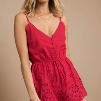 Good For You Scallop Romper