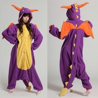 Spyro Dragon Unisex Adult Onesuit Kigurumi Pajamas Anime Cosplay Costume Dress