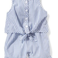 Striped Tie-Front Romper for Baby | Old Navy