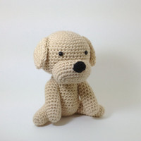 Dog Stuffed Animal Amigurumi Puppy Crochet Dog Large Size Labrador Retriever Plush / Made to Order