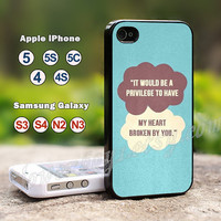 The fault in our stars-- Personail Special Gift idea for iPhone 5s case,iPhone 5 case,iPhone 5c case,iPhone 4s case,iPhone 4 case, Samsung