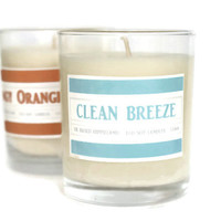 Luxury Clean Breeze Scented Large Soy Candle, Premium Candle, 13.6oz, Clean Cotton Candle, Soy Candles, Scented Candle, Soy, Jar Candle