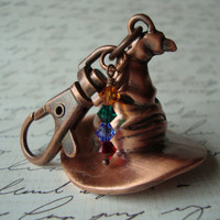 SORTING HAT KEYCHAIN - Unisex Harry Potter Inspired Hogwarts Sorting Hat Keyring Burnished Copper Gryffindor Ravenclaw Hufflepuff Slytherin