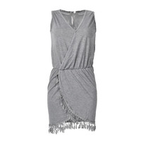 Sexy Split Women Dresses Grey Summer Style Casual Summer Dresses 2015 V-Neck White Beach Dresses = 1956686916