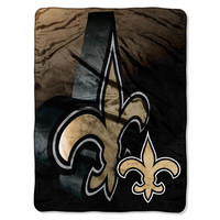 New Orleans Saints NFL Micro Raschel Blanket (Bevel Series) (80x60)