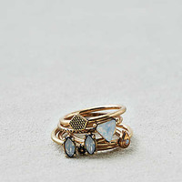 AEO Opal Rings 5-Pack , Gold