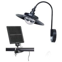 Round Solar Powered Shed Wall LED Light