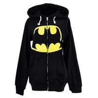 The new foreign trade section of men and women lovers Batman hooded sweater coat sweater (Size: XL, Color: Black) = 1928000452