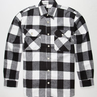 Rothco Heavyweight Mens Flannel Shirt White/Black  In Sizes