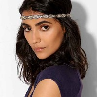 Deepa Gurnani Rhinestone Bows Headwrap - Grey One