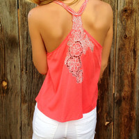 Embroidered Racerback Top