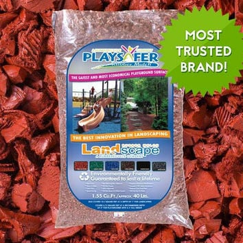 Playsafer Rubber Mulch - Red