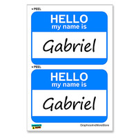 Gabriel Hello My Name Is - Sheet of 2 Stickers