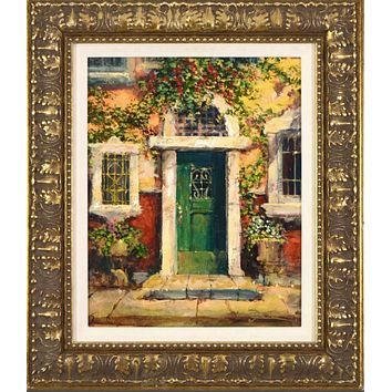 Green Door in Naples - Limited Edition Gallery Proof Canvas Giclee by James Coleman Hand Embellished
