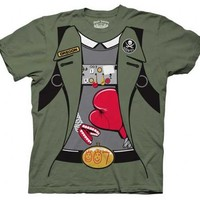 The Goonies Data Costume Military Green Adult T-Shirt - The Goonies - | TV Store Online