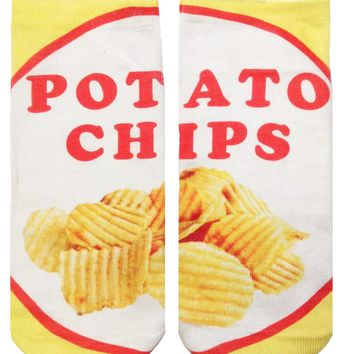 Potato Chip Ankle Socks