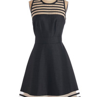 ModCloth LBD Long Sleeveless Fit & Flare Wowed by You Dress