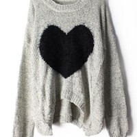 Heart Mohair Sweater JCFDG