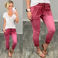 Ombre Cropped Joggers