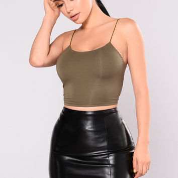 KiKi Cropped Top - Olive