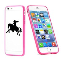 Popular Apple iPhone 6 or 6s Cowboy Horse Gift for Teens TPU Bumper Case Cover Mobile Phone Accessories Hot Pink