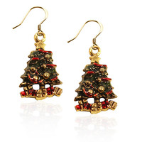 Christmas Tree Charm Earrings - Whimsical Gifts
