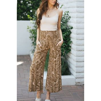 Keely Smocked Flowy Pants