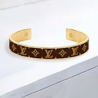 Louis Vuitton LV New Fashion Monogram Print Personality Women Men Bracelet