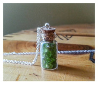 Bottled Peridot Stone Necklace