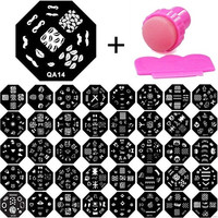 Nails Beauty Tool Manicure Template Nail Art Printing Image Polish Stamp Plate Scraper Stamper Kit (Size: One Size, Color: Black) = 5658856321