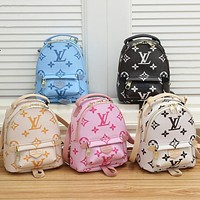 LV Louis Vuitton new letter print ladies shopping backpack school bag Daypack
