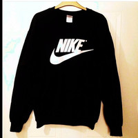 unisex customised nike jumper sweatshirt size medium festival swag
