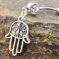 Hamsa Belly Button Ring Jewelry
