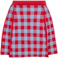 Adam Selman Mini Pleated Gingham Skirt - Farfetch