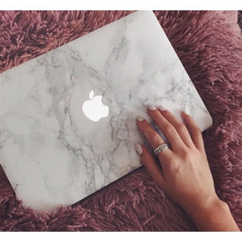 "Marble cover voor macbook air 11"", 13"" or 15"""