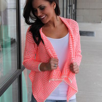CORAL OPEN SWEATER