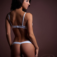"""Beautiful Lace Lingerie Panty features """"Bow-Butt"""" backside"""