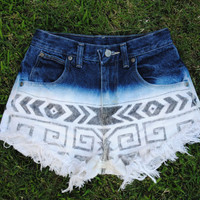 Aztec Hipster Shorts by CarlynsCutoffs on Etsy