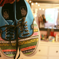 Aztec Painted Vans by RelevantSupplyCo on Etsy