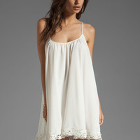 Lovers + Friends Sunshine Dress in White with Lace