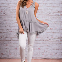 Beauty Is Everywhere Tank, Cool Gray