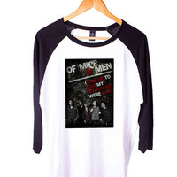 Of Mice And Men Band Personalized Short Sleeve Raglan - White Red - White Blue - White Black XS, S, M, L, XL, AND 2XL*AD*