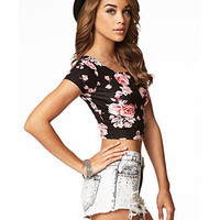 Garden Rose Crop Top