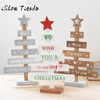 Rush Sale! Wooden Christmas Decor Bedroom Desk Decoration Gift Office Bedroom Natale Ingrosso Christmas Decorations for Home